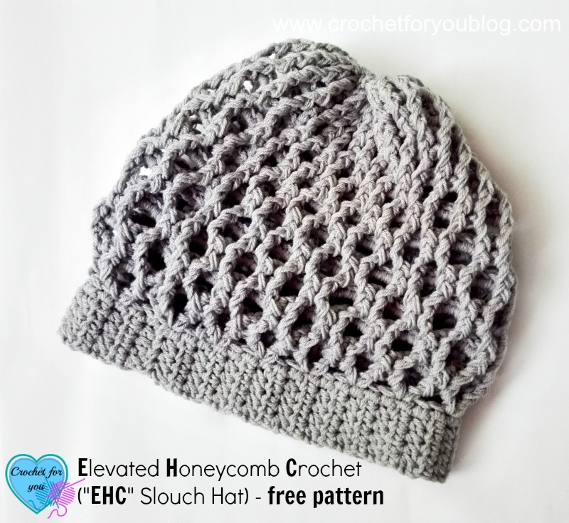 Elevated Honeycomb Crochet (EHC Slouch Hat) - free pattern