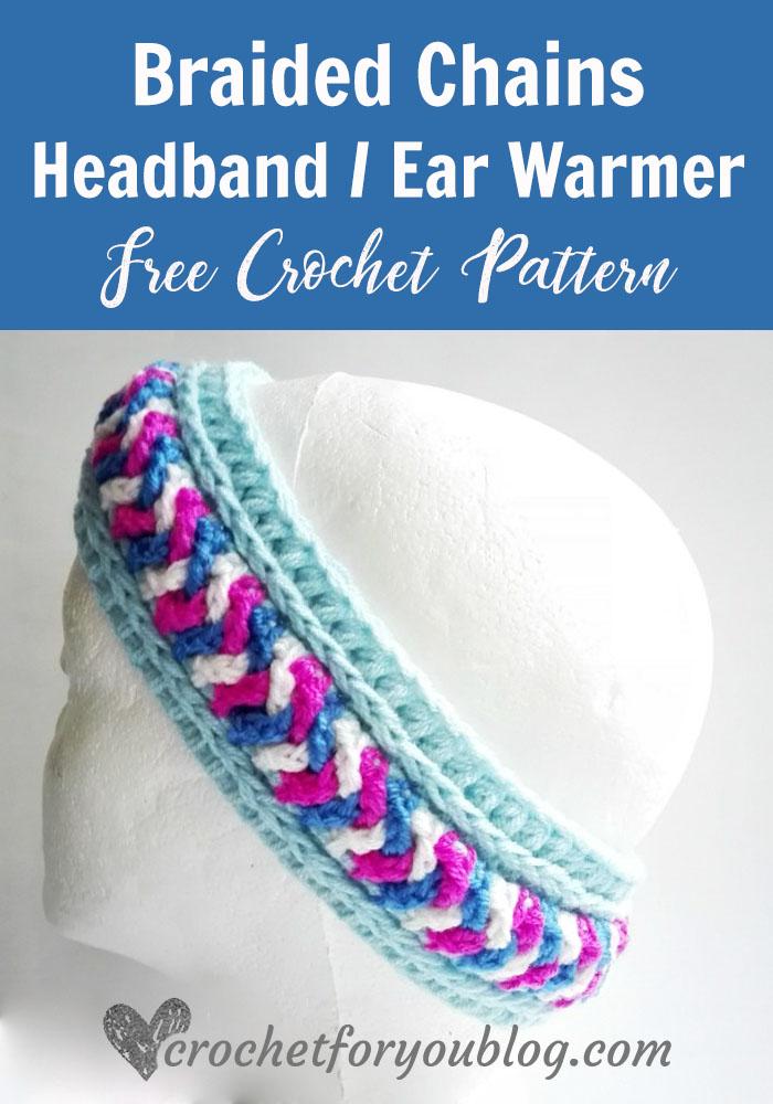 Braided Chains Headband Ear Warmer Pattern