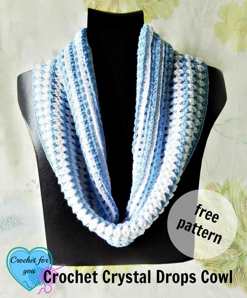Crochet Crystal Drops Cowl - free pattern