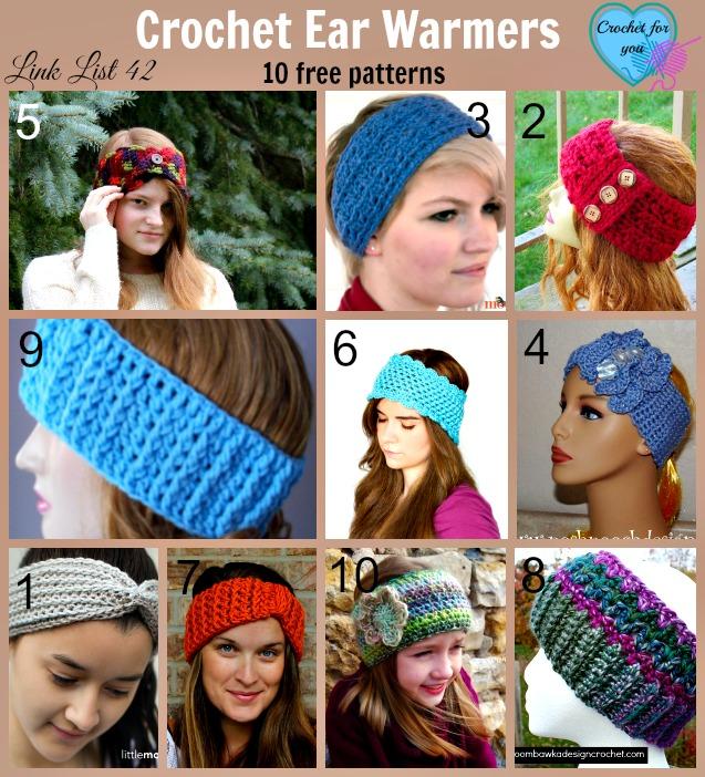 10 Free Crochet Ear Warmer Patterns