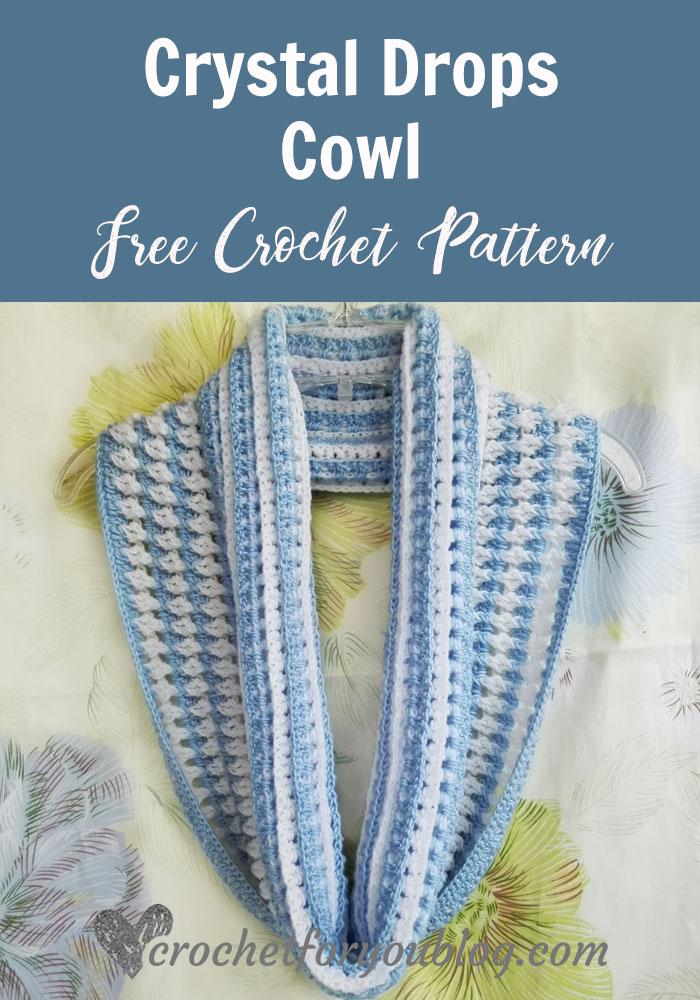 Crystal Drops Cowl - free crochet pattern