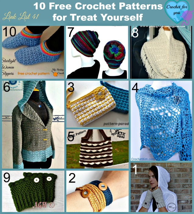 10 Free Crochet Patterns for Treat Yourself