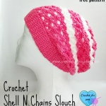 Crochet Shell N Chains Slouch - free pattern