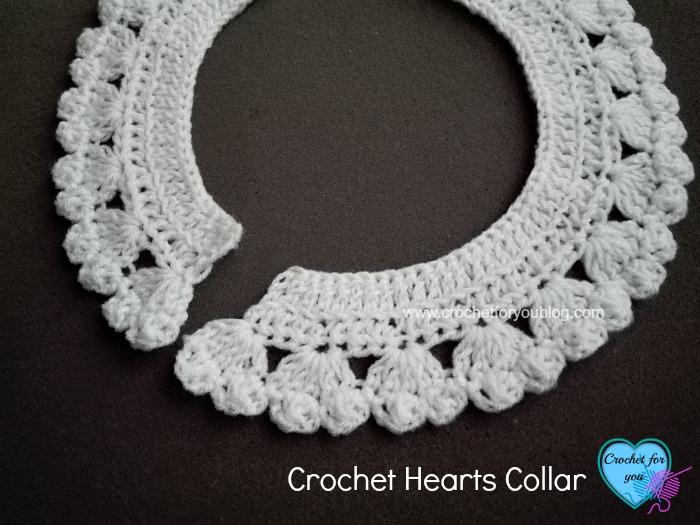 Crochet Hearts Collar - free pattern