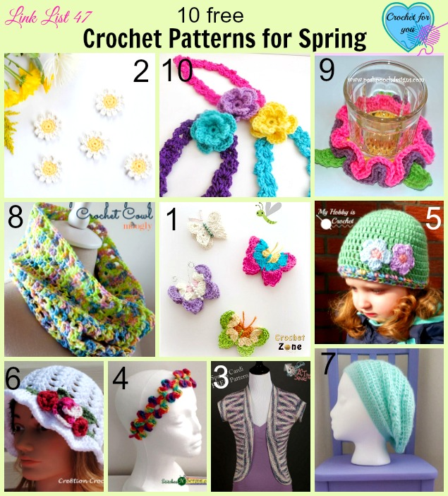 10 Free Crochet Patterns for Spring