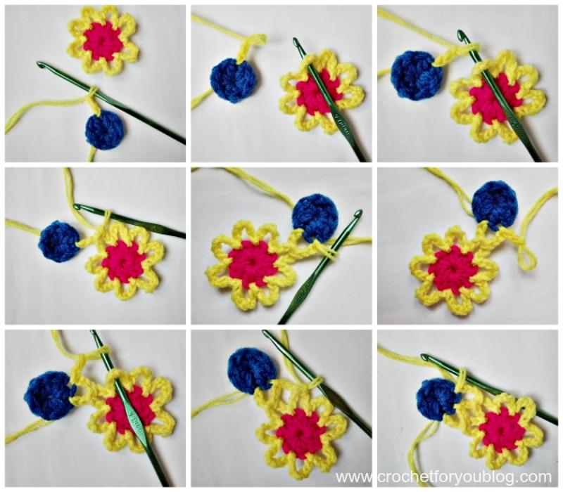 Crochet Star Flower Headband - free pattern