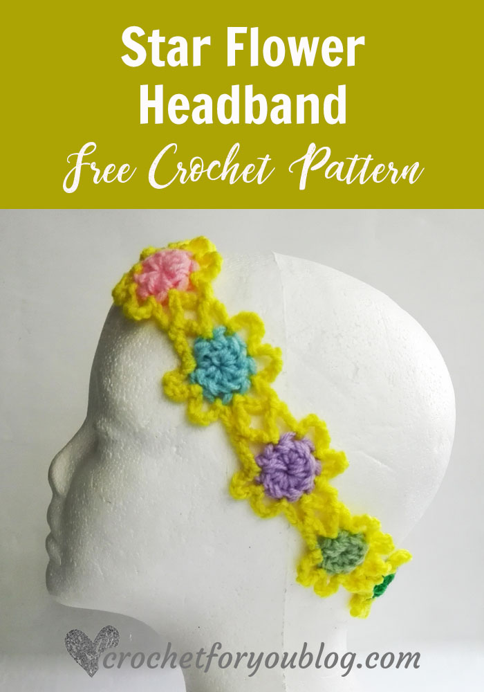 Star Flower Headband - free crochet pattern
