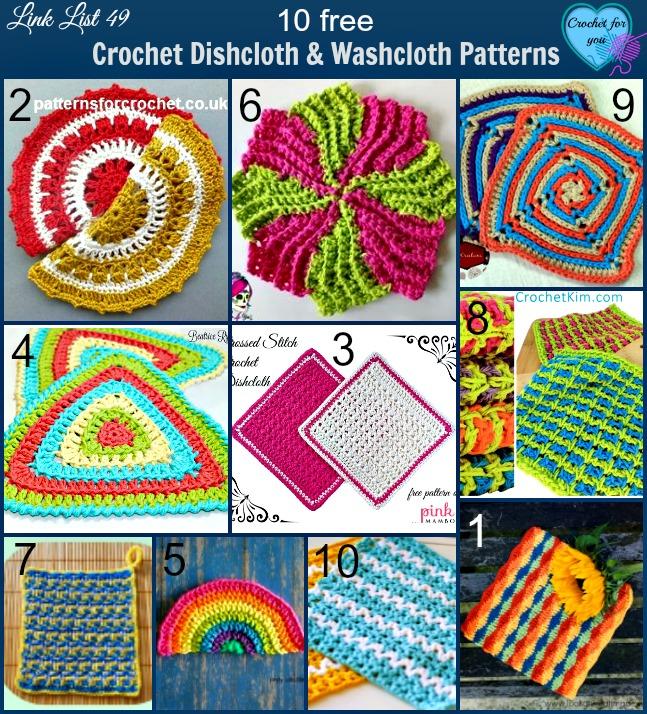 Crochet Dishcloth & Washcloth Patterns