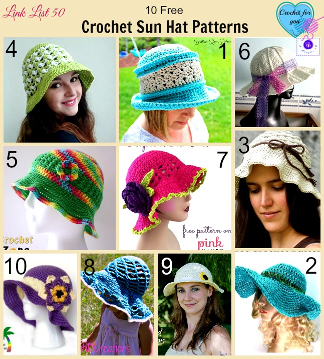 10 Free Crochet Sun Hat Patterns