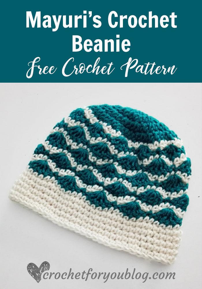 Mayuri's Crochet Beanie - free crochet pattern