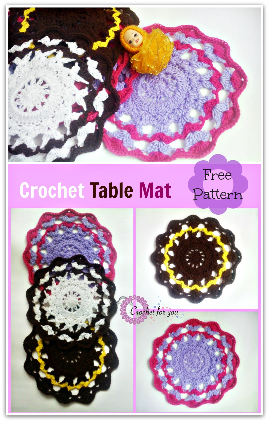 Crochet Table Mat - free pattern