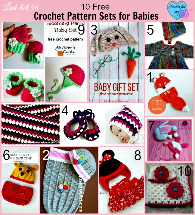 10 Free Crochet Pattern Sets for Babies