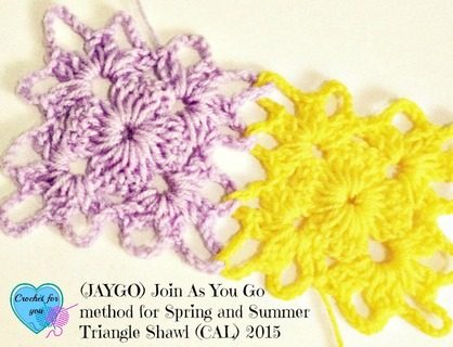 Join As You Go Crochet Method for Spring and Summer Triangle Shawl (CAL)