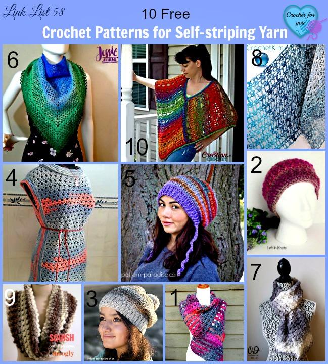 Free Crochet Patterns for Self-striping Yarn