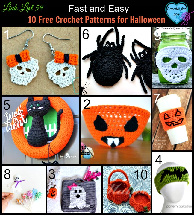 10 Free Crochet Patterns for Halloween