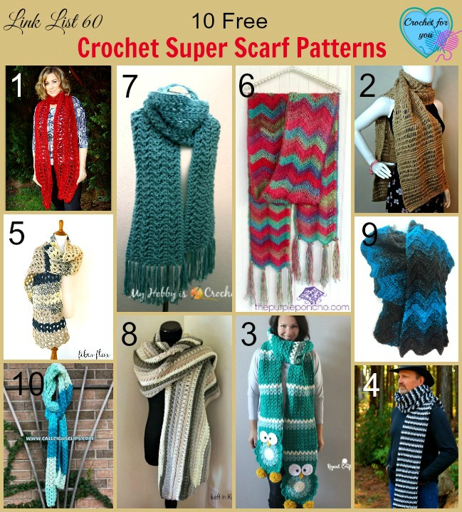 10 Free Crochet Super Scarf Patterns