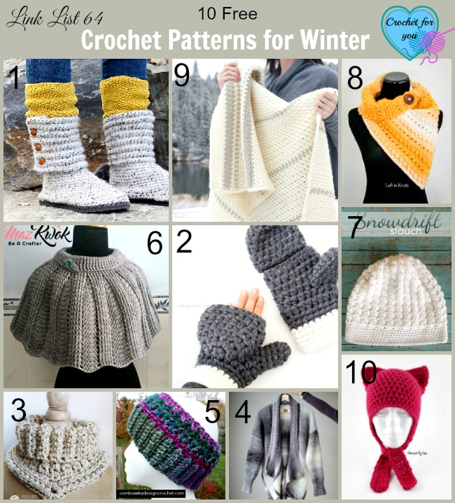 10 Free Crochet Patterns for Winter