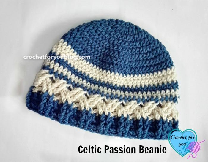 Celtic Passion Beanie - free crochet pattern