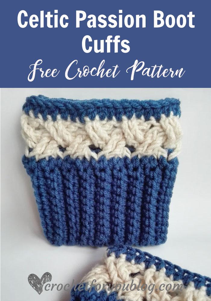 Celtic Passion Boot Cuffs - free crochet pattern
