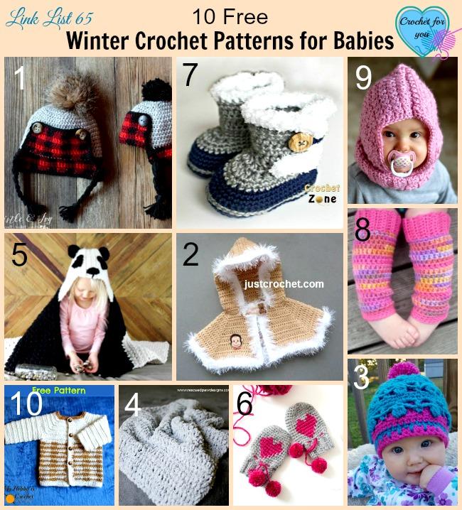10 Free Winter Crochet Patterns for Babies