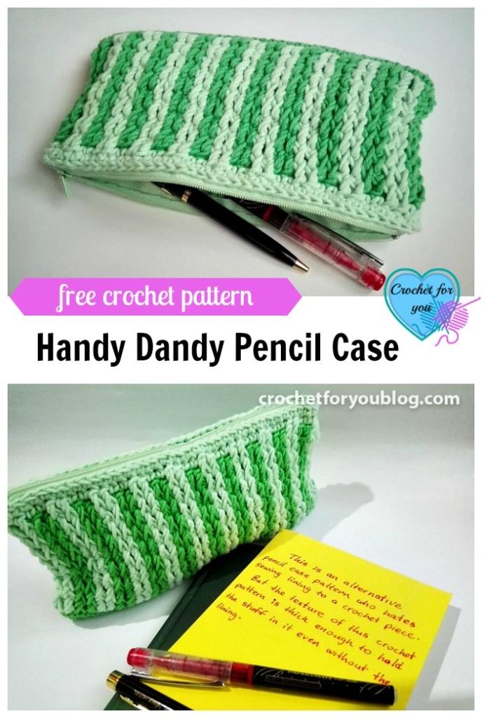 Handy Dandy Pencil Case - free pattern