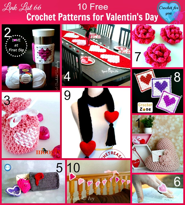 10 Crochet Patterns for Valentin's Day