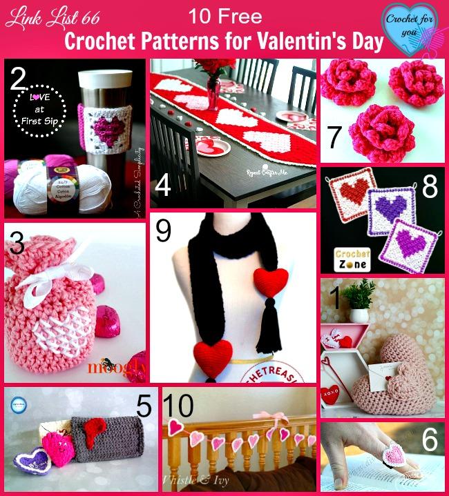 10 Crochet Patterns for Valentin's Day