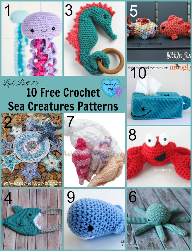 10 Free Crochet Sea Creatures Patterns