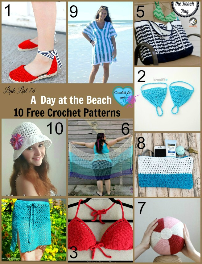 A Day at the Beach 10 Free Crochet Patterns