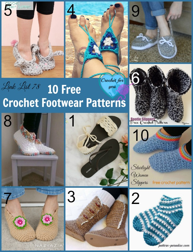 10 Free Crochet Footwear Patterns