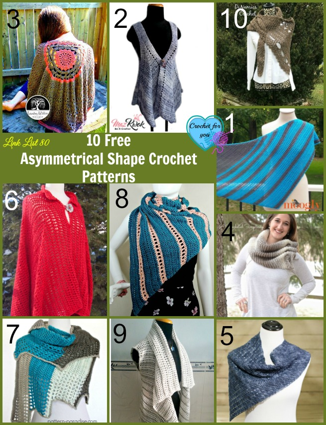 10 Free Asymmetrical Shape Crochet Patterns
