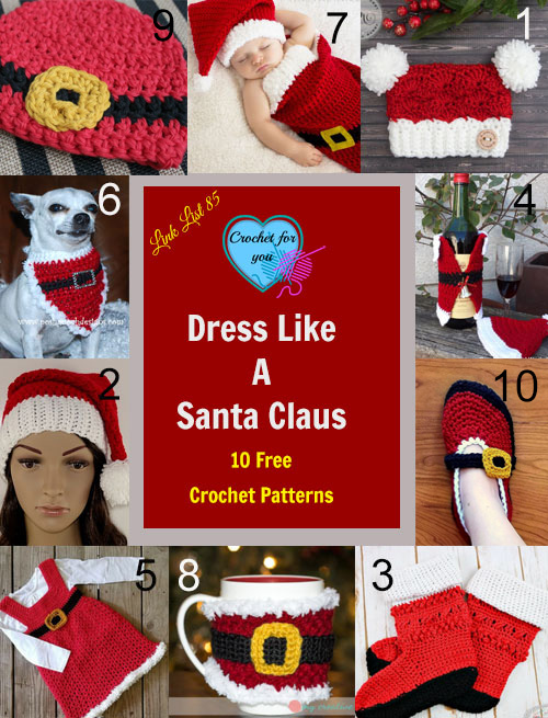 Link list 85 Dress Like a Santa Claus 10 Free Crochet Patterns