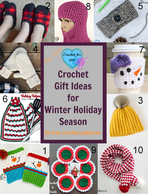 Crochet Gift Ideas for Winter Holiday Season