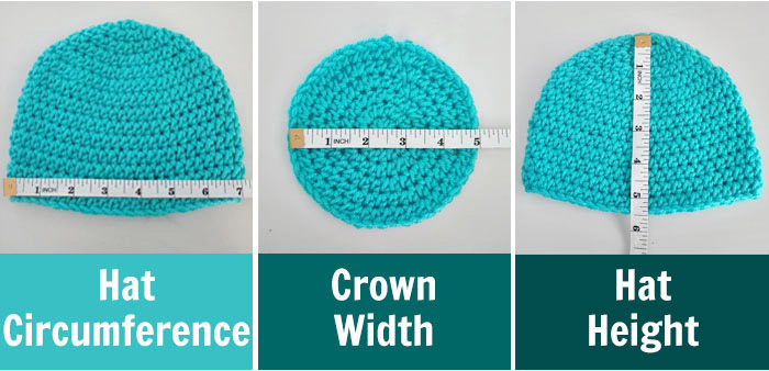 Crochet Hat Sizing Guide How to Crochet Hat in Any Size