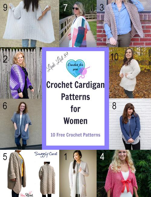 Crochet Cardigan Patterns for Women