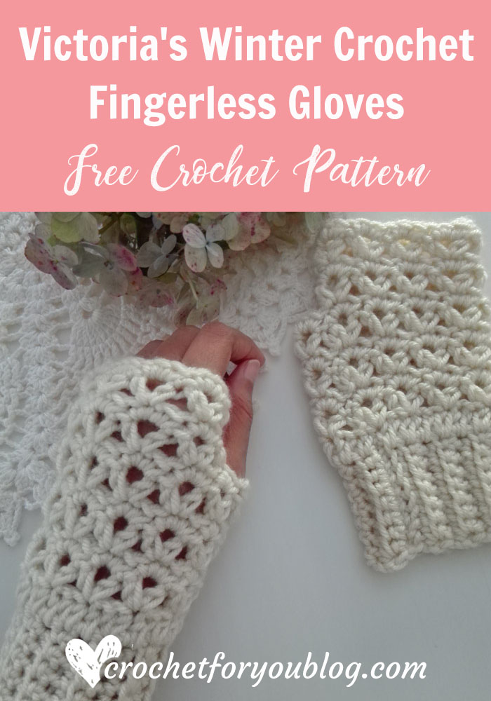 Victoria's Winter Crochet Fingerless Gloves - free crochet pattern