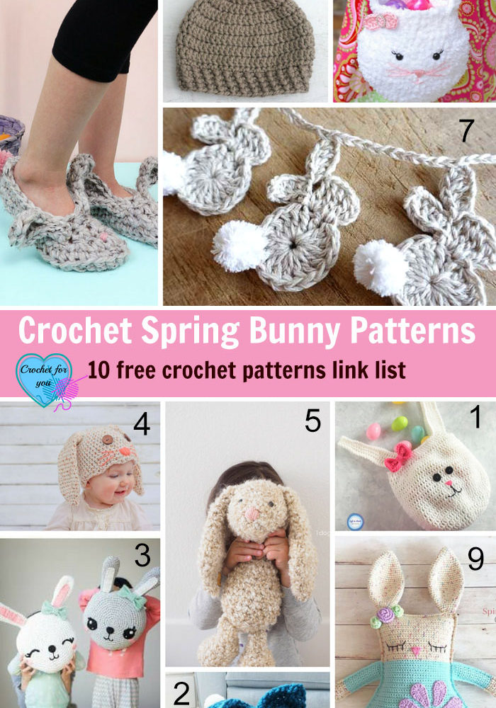 Crochet Spring Bunny Patterns - 10 free crochet patterns link list