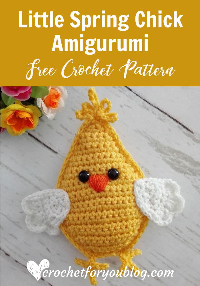 Little Spring Chick Amigurumi - free crochet pattern