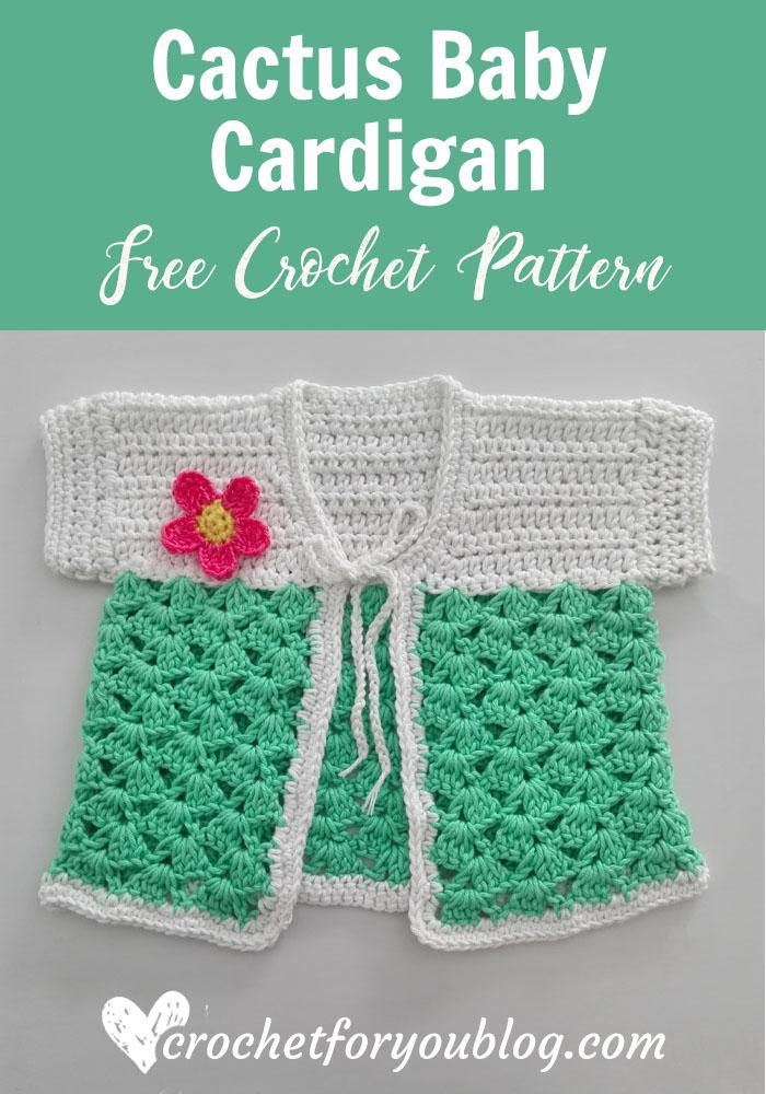 Crochet Cactus Baby Cardigan Free Pattern
