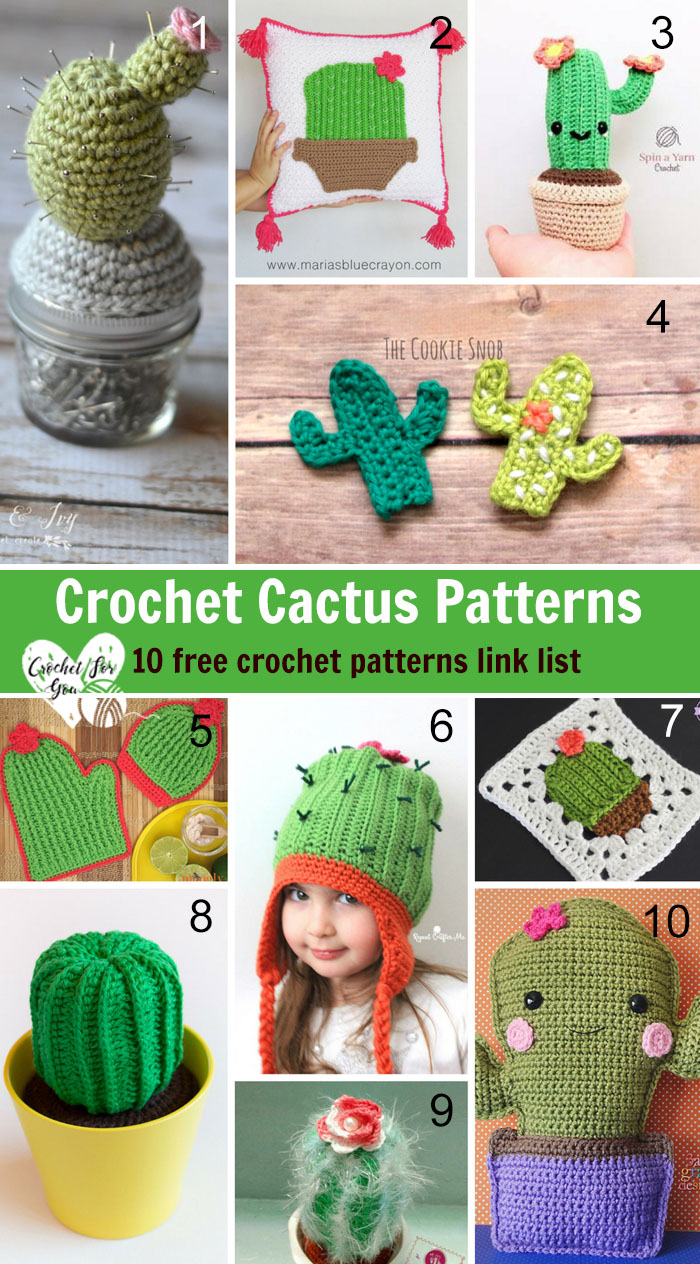 Crochet Cactus Patterns - 10 free crochet pattern link list
