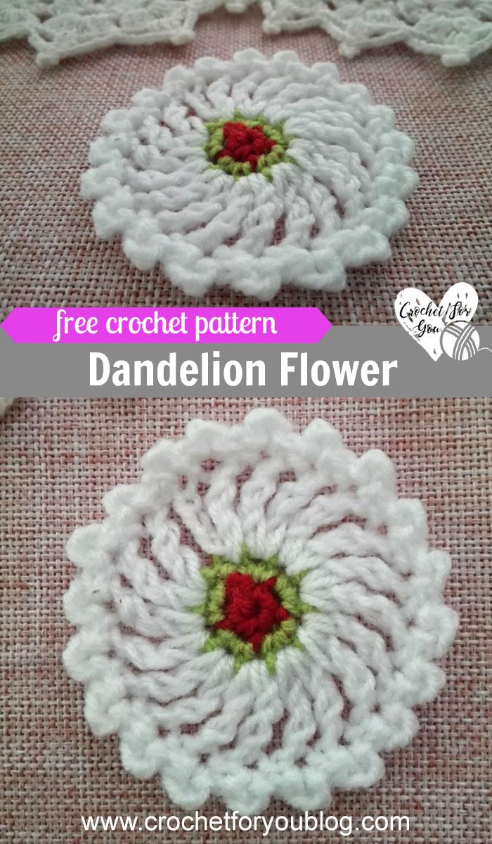 Crochet Dandelion Flower Free Pattern