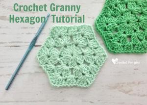 Crochet Granny Hexagon Free Pattern