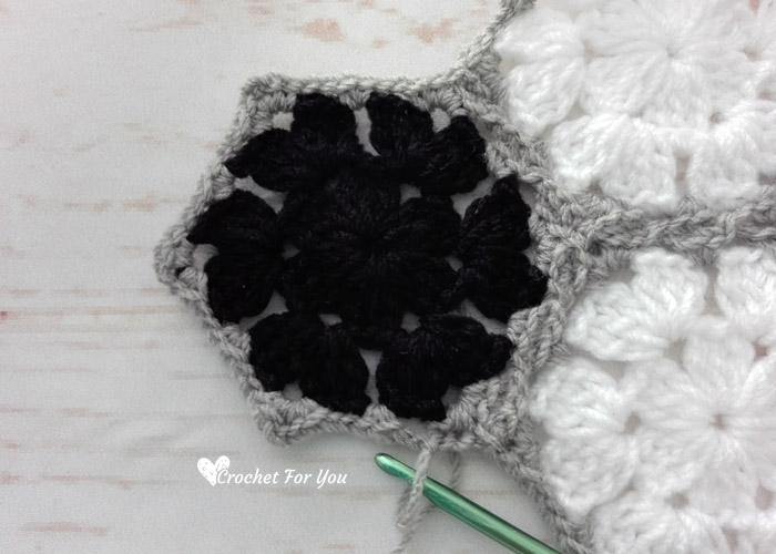 How to Join Crochet Granny Hexagons As You Go
