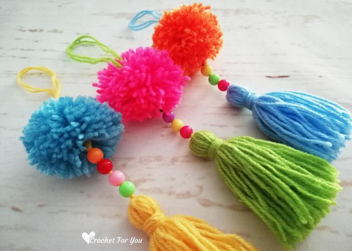 How to make pompom tassel - Easy DIY Tutorial