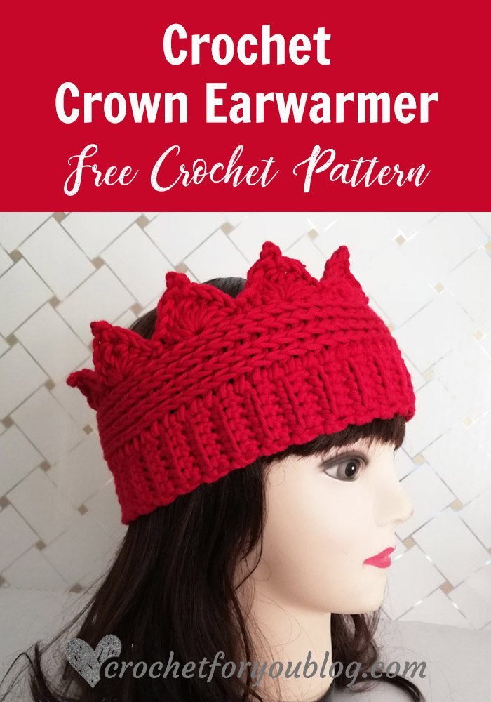 Crochet Crown Earwarmer Free Pattern