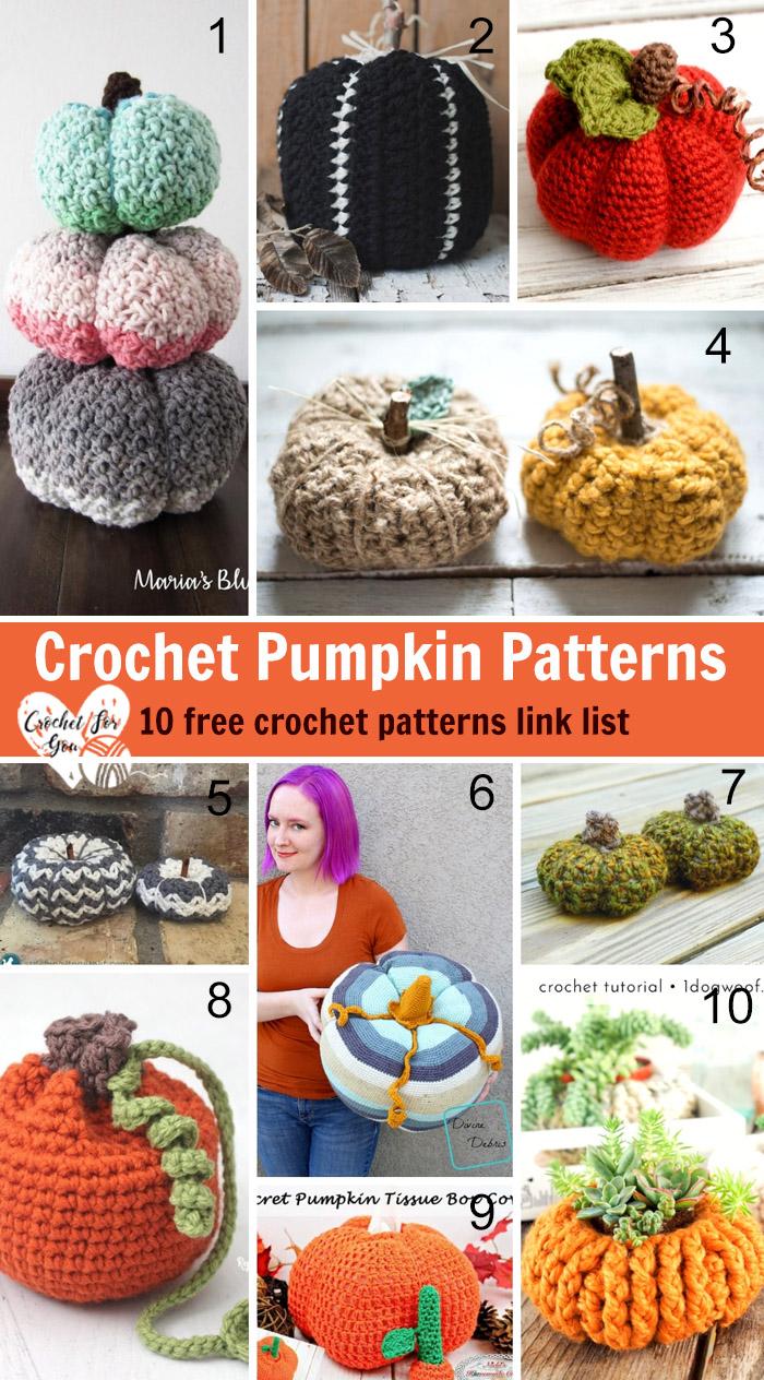 Crochet Pumpkin Patterns 10 Free Crochet Patterns Link List