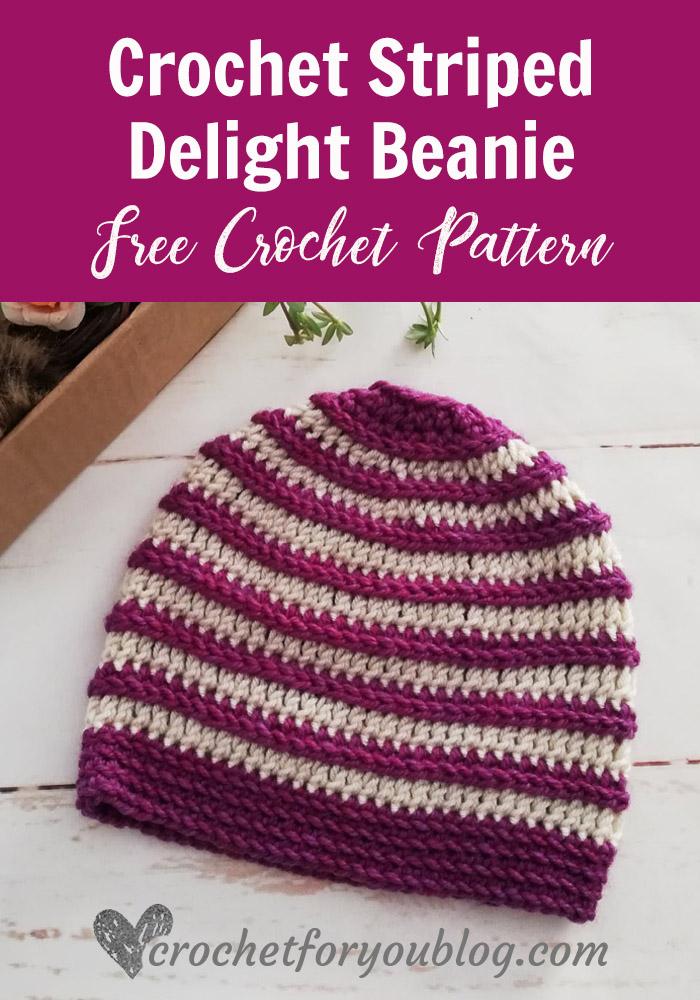 Crochet Striped Delight Beanie Free Pattern