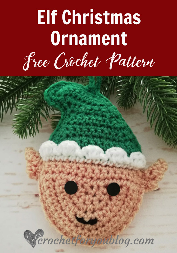 Crochet Elf Christmas Ornament Free Pattern