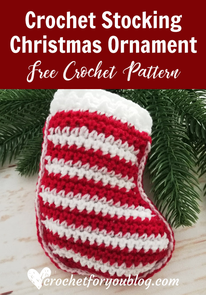 Crochet Stocking Christmas Ornament Free Pattern