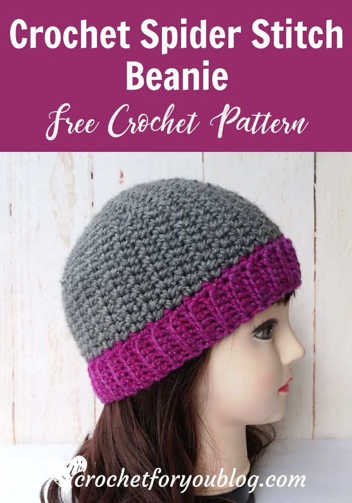 Crochet Spider Stitch Beanie Free Pattern
